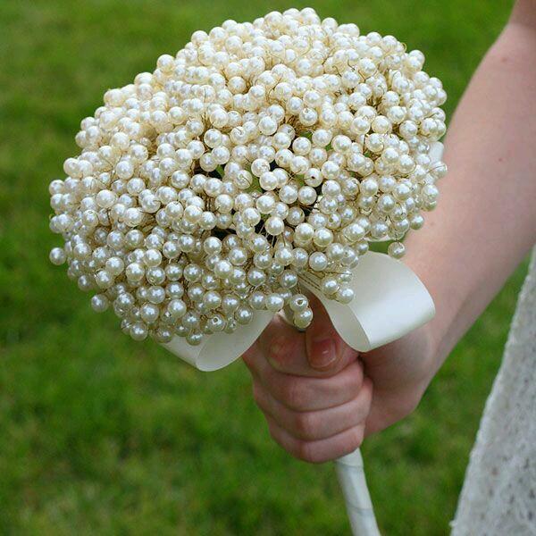 ramo, joya, perlas, novia, bouquet, elegante