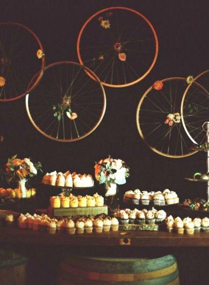 candy bar, bibicleta, boda tematica, original, vintage, retro