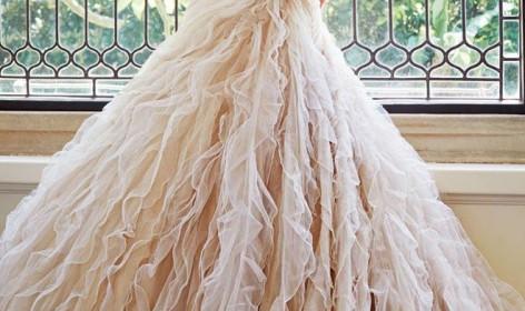 Sophia Tolli, vestido, novia, escote corazon, sirena, princesa, gasa, organza, organdí, elegancia, sutileza, coleccion 2014