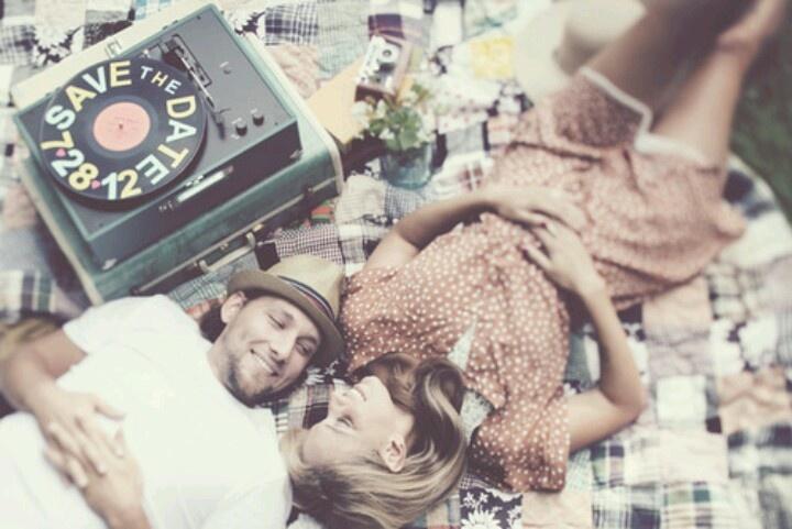 musica, vintage, retro, save the date, tematica, novios, boda