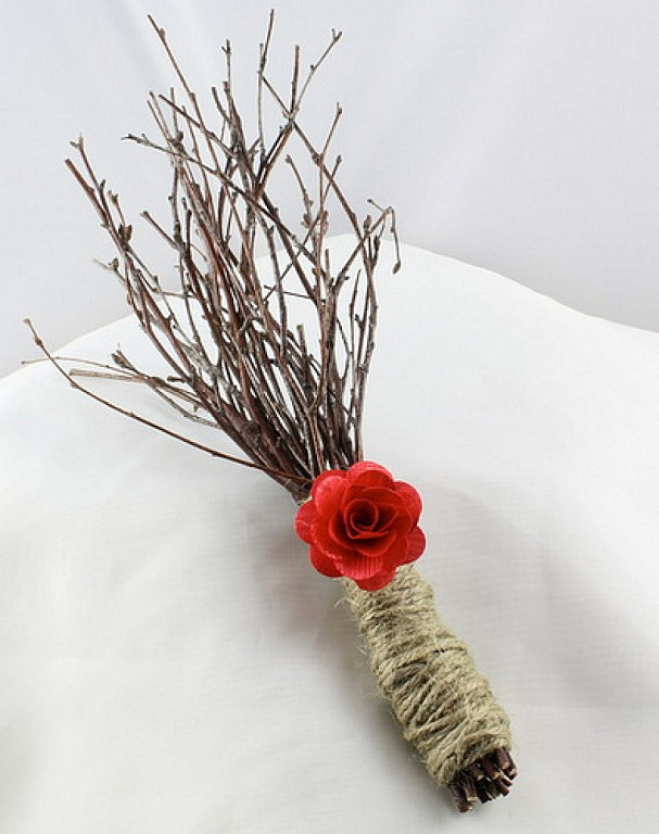 ramo, invierno, novia, retro, minimal, ramas, cuerda