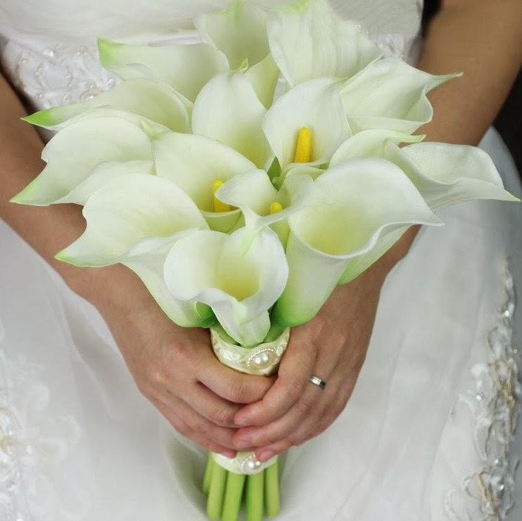 ramo, bouquet, calas, elegante, clasico, novia