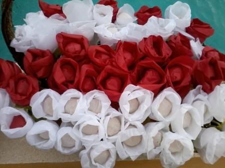 rosas, papel seda, boda, arroz, original. flores arroz, creatividad, original, novia, dia b, ceremonia