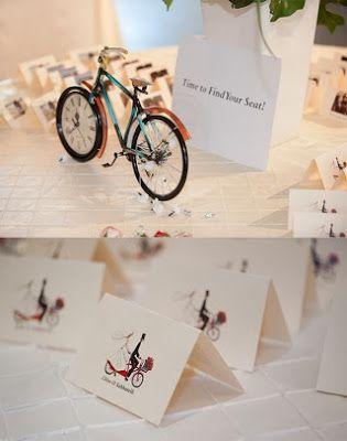 bicicleta, meseros, minutas, personalizacion, retro, boda tematica, novios
