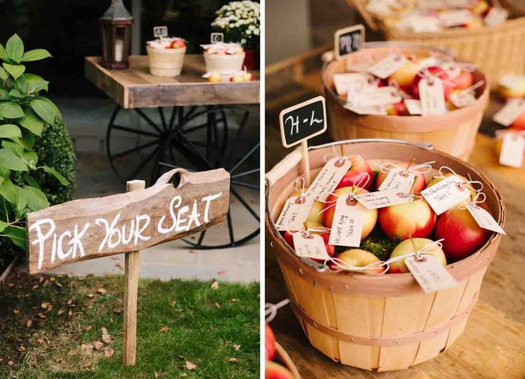 organizacion mesas, seating plan, manzanas, original, boda, convite, campestre