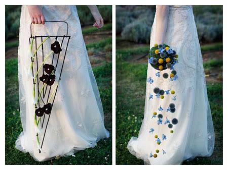 alternativa, novia, ramo, flores, original, diferente