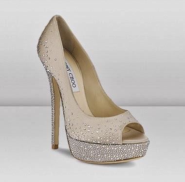 zapatos, novia, 2015, tendencias, moda, moda nupcial, novias 2015, encaje, zapatos joya, brillos, jimmy choo