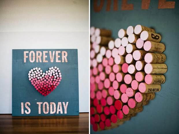cuadro, corcho, DIY, manualidades, corazon, san valentin, regalo, decoracion, cuadro, amor, pareja, novios