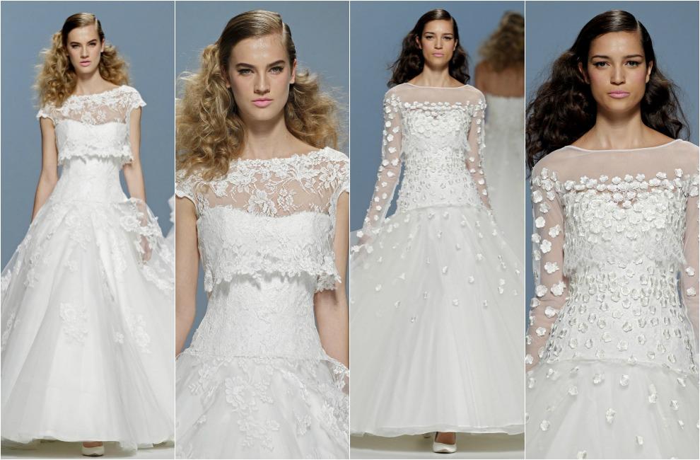vestidos novia, largo city, rosa clara, novia, novia moderna, boda ciudad, vestido baile, elegancia, sofisticación, cintura, cuellos cerrados, top-crop, falso top crop, cymbeline