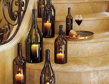 diy, boda, boda noche, ceremonia, luz, velas, reciclaje, botellas cristal, botellas vino, manualidades, jardin, pazo, exteriores